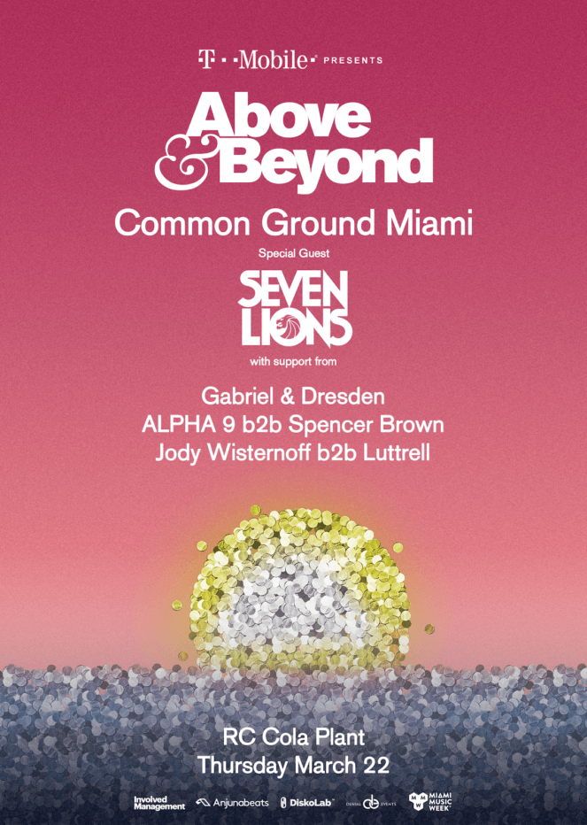 Above and Beyond presents Common Ground at RC Cola Plant, Miami, US on 22nd of March 2018 full lineup