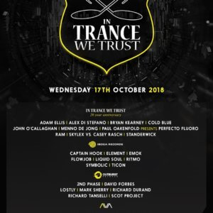 In Trance We Trust ADE Festival 2018 poster
