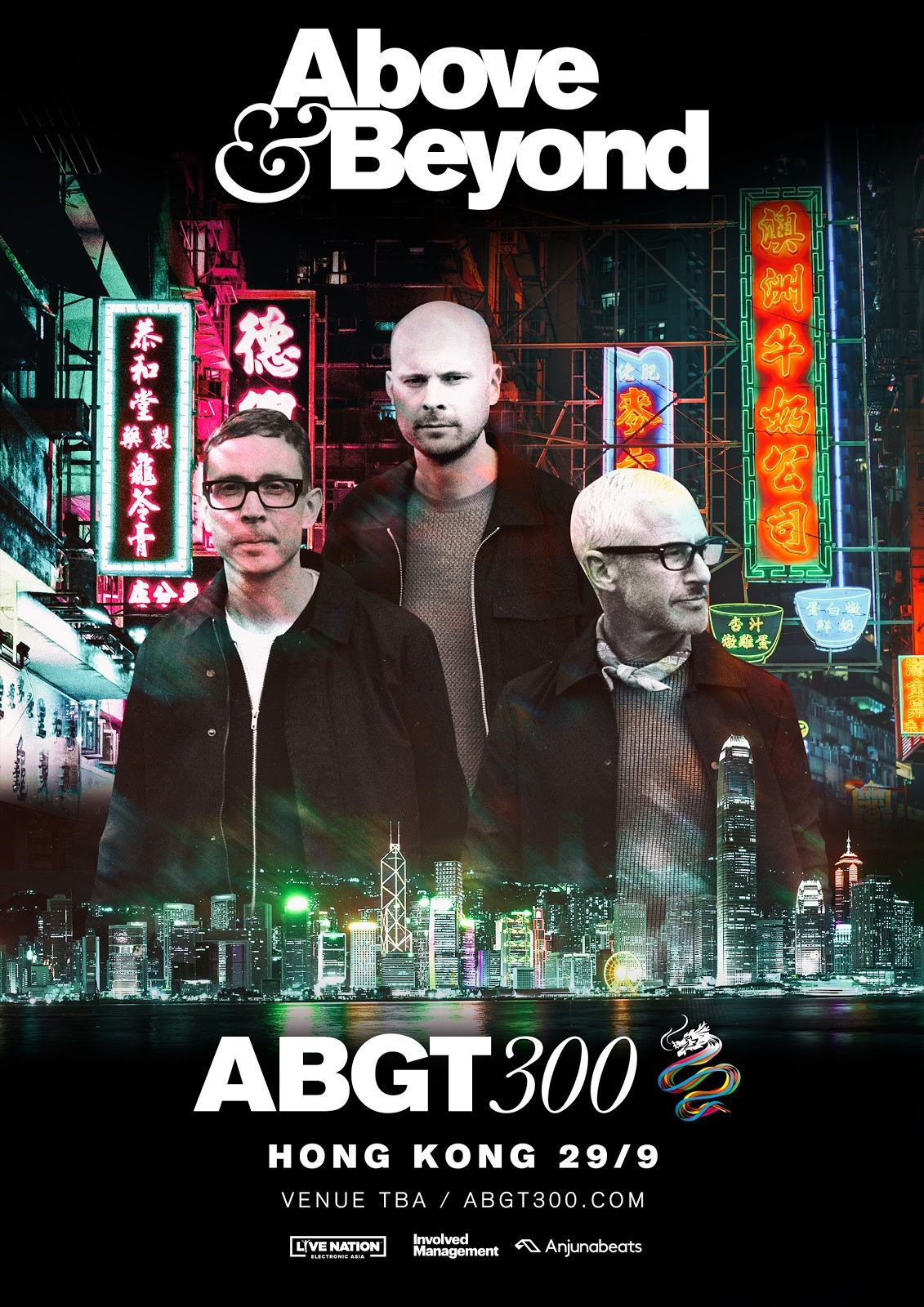 Above and Beyond presents Group Therapy 300 in Hong Kong on 29th of September 2018